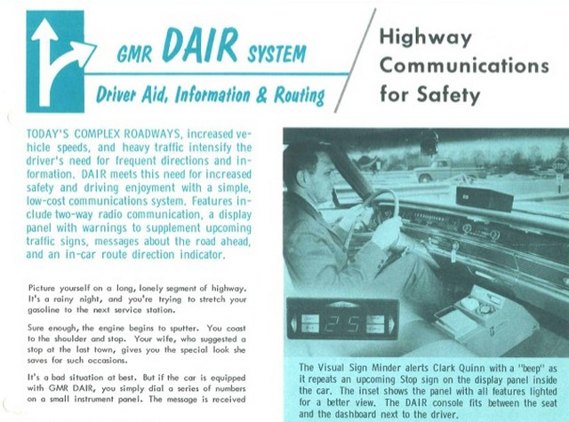 Driver Aid Information and Routing